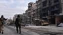 Des forces gouvernementales à Alep Est, le 23 décembre