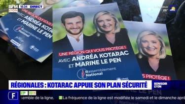 Régionales : Kotarac appuie son plan sécurité