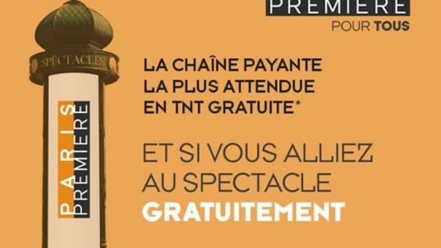 Paris Première avait lancé au printemps une campagne publicitaire en faveur de son passage en gratuit