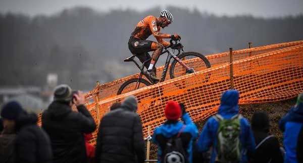 Mathieu van der Poel lors des derniers Mondiaux de cyclo-cross