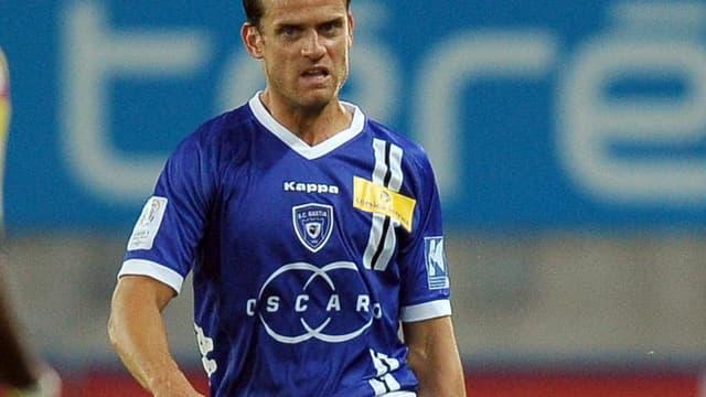 Jérôme Rothen avec le maillot de Bastia