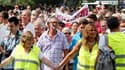 Manifestation à bruxelles contre la libération de l'ex-femme de dutroux