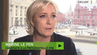 Marine Le Pen interviewée par RT lors de sa visite à Moscou