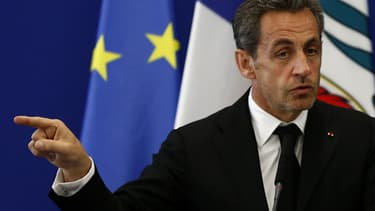 Nicoals Sarkozy, ici à Nice le 10 mars, est sorti de sa réserve.