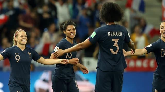 Les joueuses de l'équipe de France