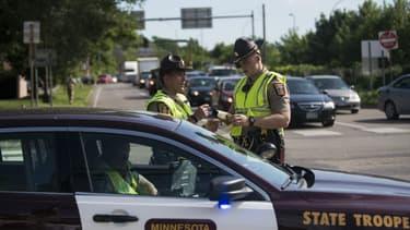 Des officiers de police le 6 juillet 2016 à Minneapolis, Minnesota, aux Etats-Unis. (Photo d'illustration)