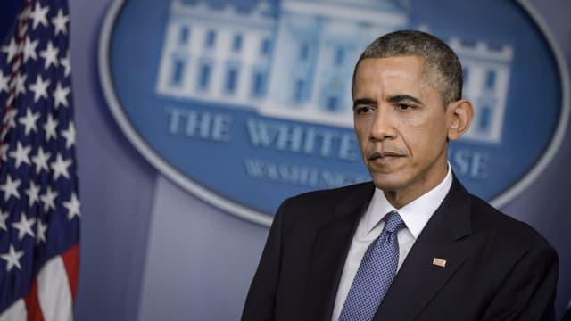 Barack Obama lors d'une conférence de presse, le 19 décembre 2014.