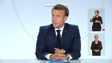 Emmanuel Macron le 14 octobre