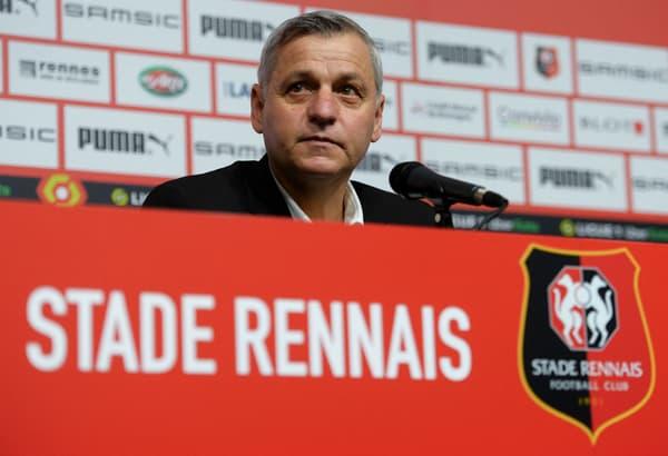 Bruno Genesio lors de sa présentation à Rennes