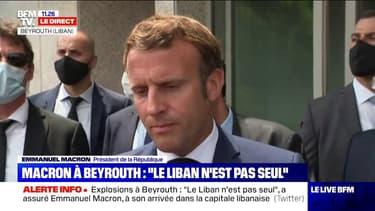 """Emmanuel Macron à Beyrouth: """"Au-delà de l'explosion, la crise est grave"""""""