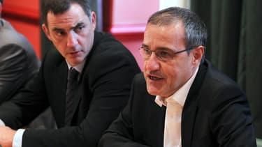 Jean-Guy Talamoni (premier plan) et Gilles Simeoni