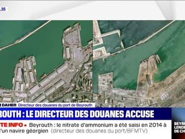 """Beyrouth: l'entrepôt n'était """"pas bien équipé"""" pour accueillir du nitrate d'ammonium, selon le directeur des douanes du port"""