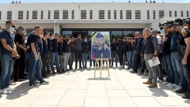 Hommage à Eric Masson à Avignon, le 9 mai 2021