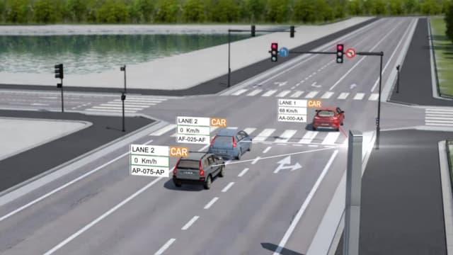 Double amendes pour ce conducteur qui vient de griller un feu rouge en excès de vitesse