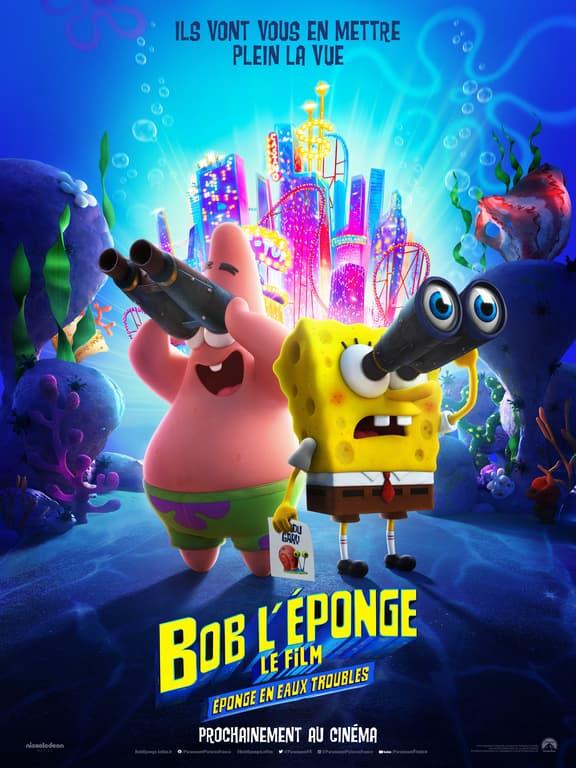 Affiche de Bob l'éponge, éponge en eaux troubles.