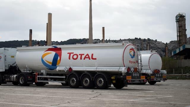 Entrée de la raffinerie Total à La Mède (Bouches-du-Rhône).