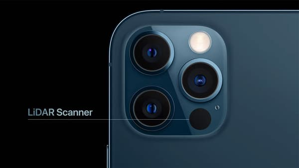 Le capteur LiDAR de l'iPhone 12 Pro