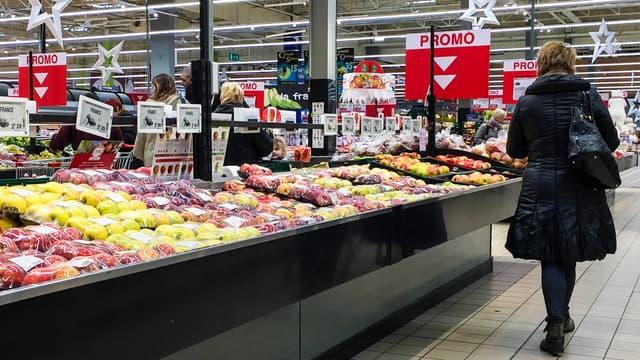 Dans un supermarché français. (photo d'illustration)