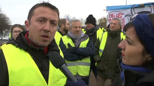 Filipe, gilet jaune à Saint-Etienne-du-Rouvray, a répondu directement à Emmanuel Macron après son discours, sur BFMTV.