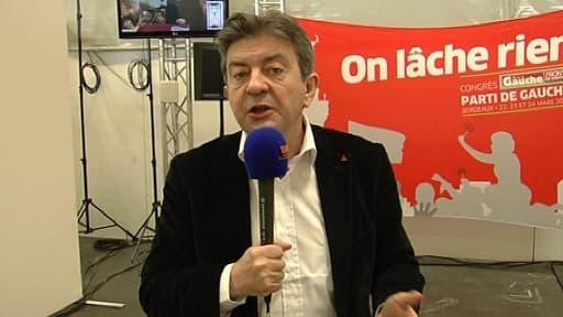 Jean-Luc Mélenchon à Bordeaux, samedi 23 mars