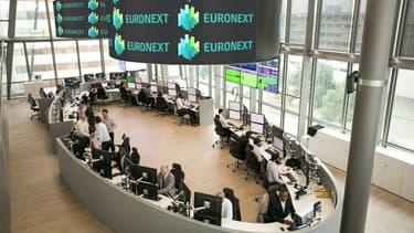 La salle de surveillance d'Euronext Paris