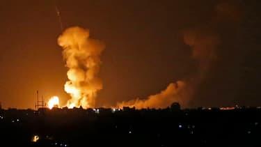 Bombardement israélien dans la bande de Gaza
