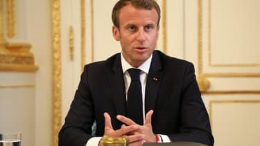 Emmanuel Macron à l'Elysée le 5 septembre 2018.