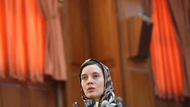 L'universitaire française Clotilde Reiss, assignée à résidence en Iran, sera acquittée d'ici dimanche de l'accusation principale d'espionnage et devrait pouvoir rentrer bientôt en France. /Photo d'archives/REUTERS/Fars News