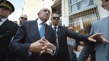 Gérard Collomb en visite à La Castellane à Marseille en juillet 2018.