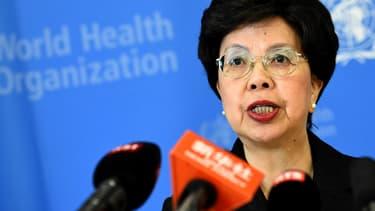 Margaret Chan, directrice de l'OMS, lors d'une conférence de presse le 8 août.