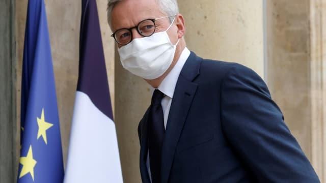 Le ministre de l'Economie Bruno Le Maire à l'Elysée, le 19 octobre 2020