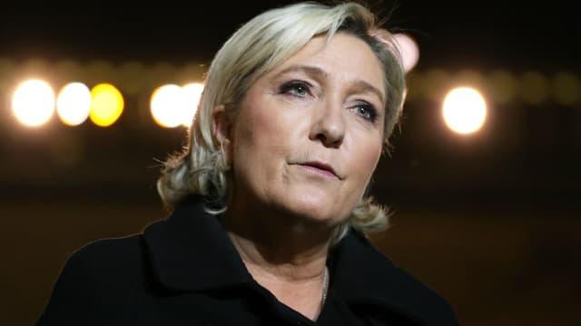 Marine Le Pen après sa rencontre avec Emmanuel Macron à l'Elysée le 21 novembre 2017.