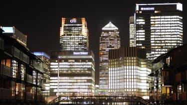 La City, le quartier d'affaires londonien, où siègent les plus grandes banques mondiales.