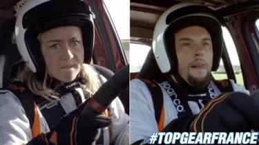 Mercredi soir, Enora Malagré et Norbert Tarayre se sont frottés à la piste Top Gear France.