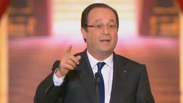 François Hollande lors de sa seconde grande conférence de presse