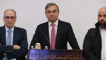 Carlos Ghosn, lors de sa conférence de presse du 8 janvier.