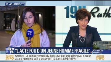 """Fusillade dans un lycée de Grasse: Najat Vallaud-Belkacem évoque """"l'acte fou d'un jeune homme fragile"""""""
