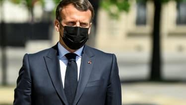 Le président Emmanuel Macron, le 24 avril 2021 à Paris