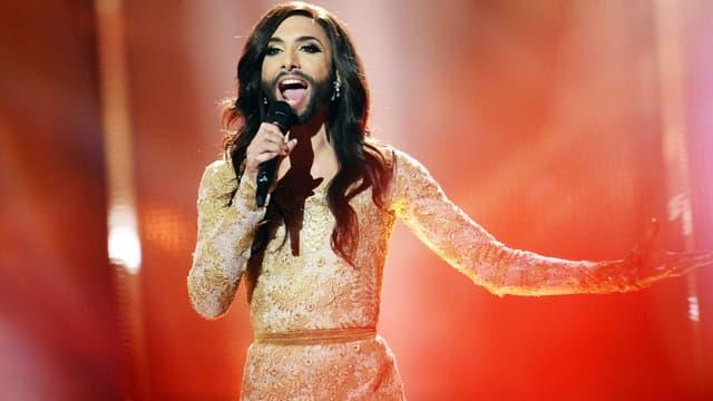 Conchita Wurst à l'Eurovision à Copenhague en 2014