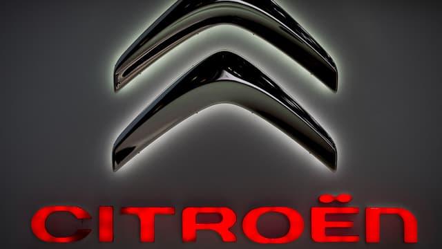 Le logo de la marque Citroën.