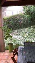 Violente pluie de grêle à Aubagne dans les Bouches-du-Rhône - Témoins BFMTV