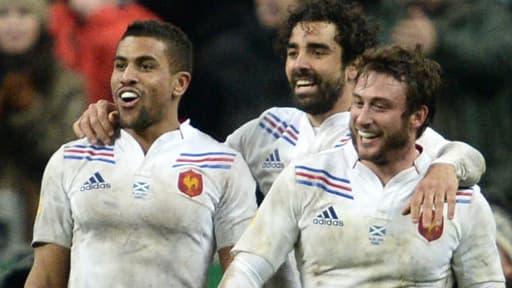 Le XV de France a gagné face à l'Ecosse (23-16) dans le Tournoi des six nations à Saint-Denis le 16 mars 2013.