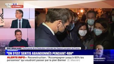 Emmanuel Macron face à la douleur des sinistrés (1/4) - 07/10