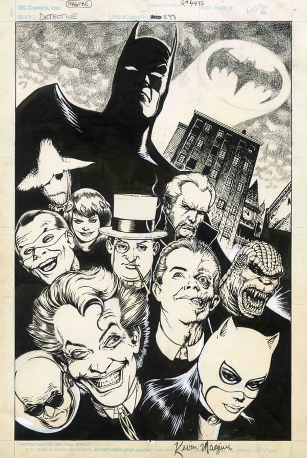 Les personnages de Batman dessinés par Kevin Maguire