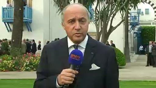 Laurent Fabius à Tunis, mardi 14 mai.
