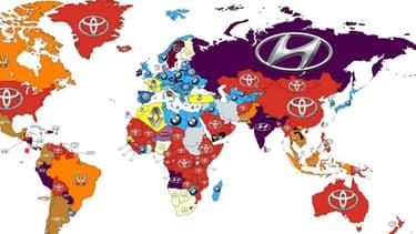 La carte des marques automobiles les plus recherchées sur internet livre certaines surprises