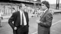 Jean-Michel Aulas et Bernard Tapie en 1989 à Lyon.