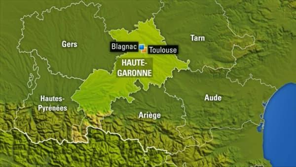 La collision a eu lieu à Blagnac, près de Toulouse.
