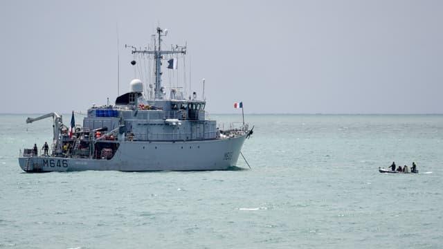 Un vaisseau de la Marine nationale en opération, le 10 juin 2019 (photo d'illustration)