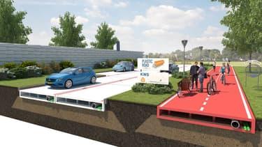 La ville de Rotterdam (Pays-Bas) va expérimenter un tronçon de route conçu à partir de bouteilles recyclées.
